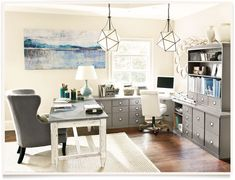 gray cabinets - love!