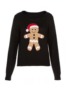 The gingerbread man jumper we love Christmas Jumper Day, Christmas Party Outfits, Christmas Fashion, Christmas Shirts, Christmas Fun, Christmas Sweaters, Festive Jumpers, Xmas Jumpers, Cute Christmas Jumpers