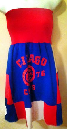 Chicago Cubs Baseball Dress by FANFASHIONS on Etsy, $65.00