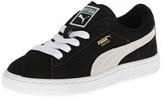 PUMA Suede Junior Sneaker Little KidBig Kid  BlackWhite 7 M US Big Kid *** Be sure to check out this awesome product.