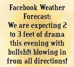 WOP weather forecast!! Ahhahahaha!! (Dbl exclamation means you know I wrote this comment myself Jenna! LOL)