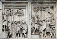 Close-up on Arch of Constantine