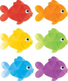 Colorful Fish Accents - Use this decorative artwork to dress up classroom walls and doors, label bins and desks, or accent bulletin boards. Each piece is approx. 30 pieces per pack.TCR 3549 Large Colorful Fish Bulletin Board Cut Outs Classroom Decorations Classroom Walls, Classroom Decor, Teacher Supplies, School Supplies, Fish Bulletin Boards, K12 School, Mermaid Clipart, Scrapbook Images, Material Didático