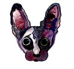 le chat avec la conjonctivite  by aleksandrav