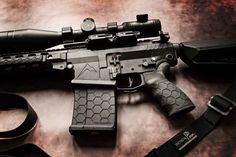 20 Round .308 Hexmag magazine and Rubber Tactical Grip close up photo from TracerX