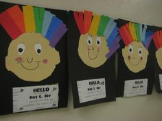 Love this!!! Teach kindergarteners the colors of the rainbow with Mr. Roy G. Biv  :-)