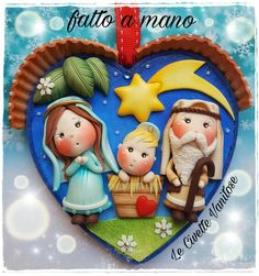 Large selection of Nativity Sets and Nativity Figures at Low Online Prices Polymer Clay Ornaments, Fimo Clay, Polymer Clay Crafts, Christmas Topper, Polymer Clay Christmas, Christmas Decorations, Nativity Ornaments, Christmas Nativity, Christmas Ornaments