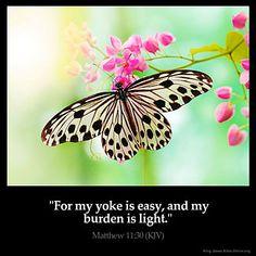 Inspirational Image for Matthew 11:30