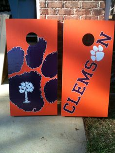 Clemson Tigers Cornhole Boards. I need these!