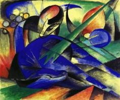 Franz Marc, Dreaming Horse  Art Experience NYC: www.artexperiencenyc.com
