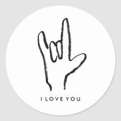 I Love You Sign Language Stickers - Custom Stickers Sign Language Tattoo, Sign Language Art, Love Yourself Tattoo, I Love You Signs, I Love You Drawings, Valentines Art, Photoshop Design, Love Words, Custom Stickers
