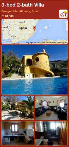 3-bed 2-bath Villa in Benigembla, Alicante, Spain ►€173,500 #PropertyForSaleInSpain