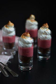 Tartes Merengadas de Framboesa e Chocolate