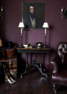 Deep rich purples, can make for a wonderfully mysterious and alluring space.