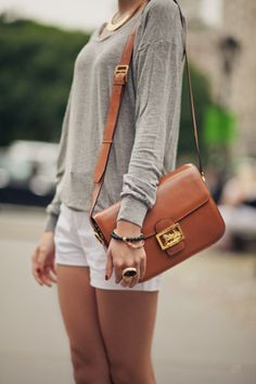casual summer, love the shorts & long sleeve shirt together.