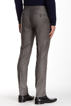 "Camden Houndstooth Wool Slim Fit Pant  - 30-34"" Inseam"