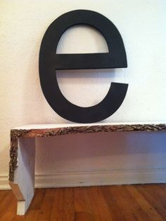 """it's an """"e"""" on a bench"""