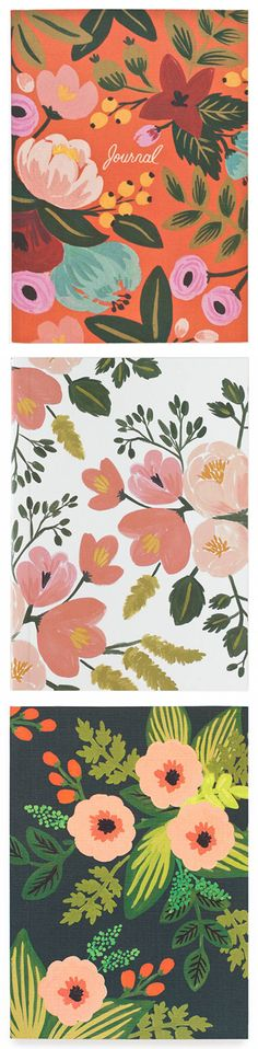 Rifle Paper Co Journals - beautiful floral patterns and colours