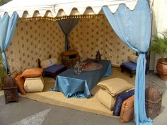 Blue and Beige Tent Wedding, Outdoor Furniture, Outdoor Decor, Tents, Toddler Bed, Beige, Indian, Home Decor, Teepees