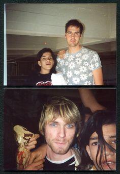 Two 5 by 7 Fan Photos Nirvana Kurt Cobain Krist Novoselic Original 1992 10 30 92   eBay