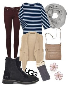 """The New Classics With UGG: Contest Entry"" by sierra-piper ❤ liked on Polyvore featuring Paige Denim, UGG, John Lewis, Enza Costa, Bueno and ugg"