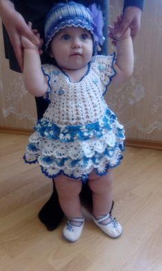 заказать.моделькой была моя дочечка. ей и создавалась эта красота. возможен повтор в любом цвете цена зависит от выбранных вами материалов и нужного размера. на 1,5годиков работа 1500+цена материалов Crochet Girls Dress Pattern, Crochet Baby Shoes, Crochet Baby Clothes, Newborn Crochet, Baby Knitting Patterns, Baby Patterns, Diy Dress, Baby Girl Dresses, Crochet Designs