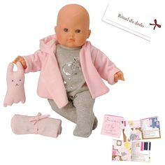 Corolle Bebe Classique Dodo Baby Play Doll - Mon Classique Corolle Bebe Dodo This doll is 36 centimeters and soft bodied so that it actually looks and feels like a real baby. This doll comes complete with a mini book that illustrates how a mother cares for her baby, a snuggly blanket and feeding bottle. It is been well-designed for many hours of play and love.