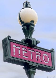 A lamp at the entrance to the Metro, Paris 2004.