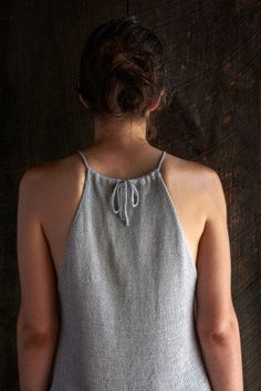 Ravelry: Drawstring Camisole pattern by Purl Soho This but sewn instead of knit Crochet Summer Tops, Summer Knitting, Knitting For Kids, Knit Crochet, Ravelry, Knitting Patterns Free, Knit Patterns, Purl Bee, Purl Soho