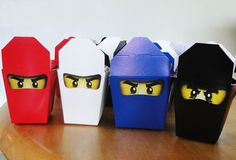 Ninjago Birthday Party + Free Ninjago Party Printables ~ Ninjago Take-out Boxes