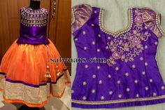 Dress Designs, Blouse Designs, 1st Birthday Girl Dress, Orange Lehenga, Kids Ethnic Wear, Indian Baby, Kids Gown, Kids Lehenga, Baby Frocks Designs