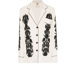 Figue Sara Embroidered Silk Top ($2,500) ❤ liked on Polyvore featuring tops, white, white embroidered top, white silk top, embroidered top, embroidered boho top and beaded top