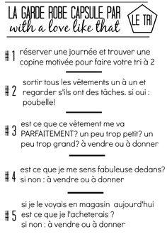 Créer sa garde robe capsule : faire du tri / ma grille de décision / par withalovelikethat.fr