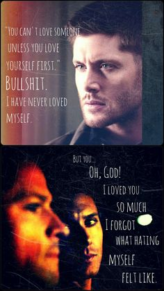 Dean Winchester and Castiel.