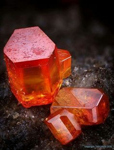 Perfect Vanadinite crystals from Mexico. Photo: Stone Ásványfotós Visit Amazing Geologist for more..
