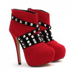 $19.10 Club Women's Short Boots With Sexy High Heel and Rivets Design