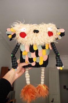 a Handmade stuffed monster