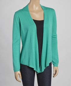 Look at this Sisters Jade Sidetail Open Cardigan on #zulily today!