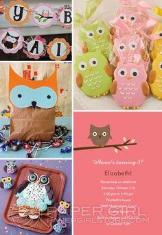 Owl birthday party ideas.