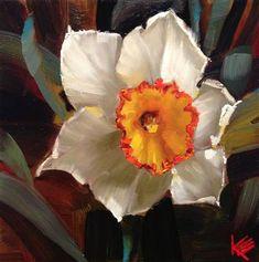 "Daily Paintworks - ""Narcissus"" - Original Fine Art for Sale - © Krista Eaton Flower Background Wallpaper, Flower Backgrounds, Watercolor Flowers, Watercolor Art, Painting Flowers, Narcisse, Big Flowers, Fine Art Gallery, Flower Art"