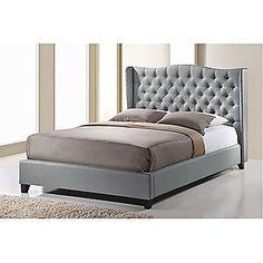 Baxton Studio Norwich Linen Modern Platform Bed