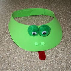 Frog Craft Foam Visor