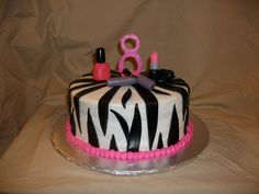 Zebra striped, makeup cake. | Flickr - Photo Sharing!