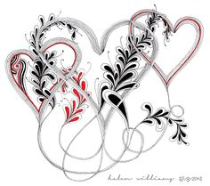 auraknot hearts by papernstuff, via Flickr