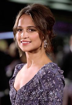 Alicia Vikander. TLBO London premiere
