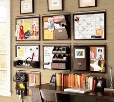 Des idées pour bien s'organiser ! http://www.m-habitat.fr/petits-espaces/bureau/amenagement-d-un-coin-bureau-2562_A
