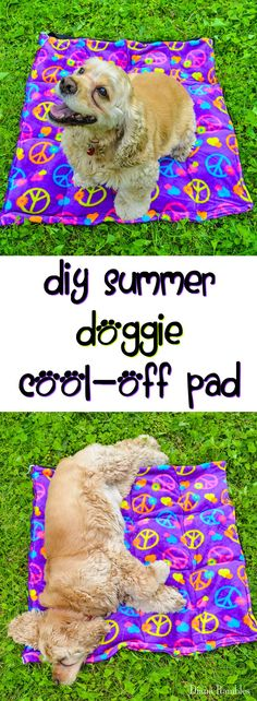 DIY Dog Summer Cool-Off Pad Sewing Tutorial AD #PawsToSavor - Need to keep your dog cooled off this summer? Here is a DIY Doggie Cool Pad Tutorial that will keep your pooch cool while he's outside with the family.