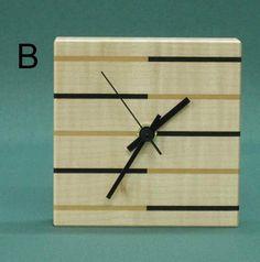 stripe clock   Square Stripe Clocks - 5 choices