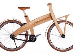 wooden bikes  houten fiets voor boswachters Dwingelderveld