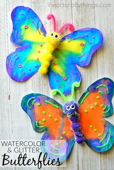 Preschool This gorgeous butterfly craft makes a great spring kids craft, insect craft for kids, preschool kids craft, fun kids crafts and spring activities for … - Preschool Children Activities Spring Crafts For Kids, Easy Crafts For Kids, Summer Crafts, Toddler Crafts, Fall Crafts, Easter Crafts, Crafts To Make, Art For Kids, Homemade Crafts